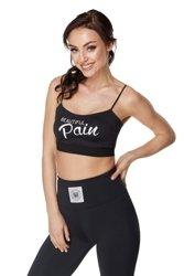 STANIK WAKE UP AND SQUAT  BEAUTIFUL PAIN BRA TOP BLACK