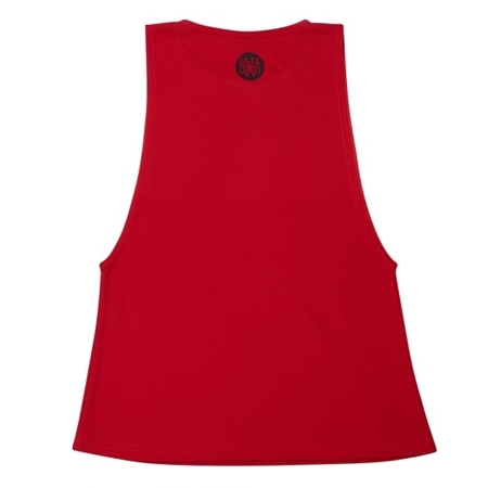 WAKE UP AND SQUAT - ACTIVE TANK TOP LONG (RED)
