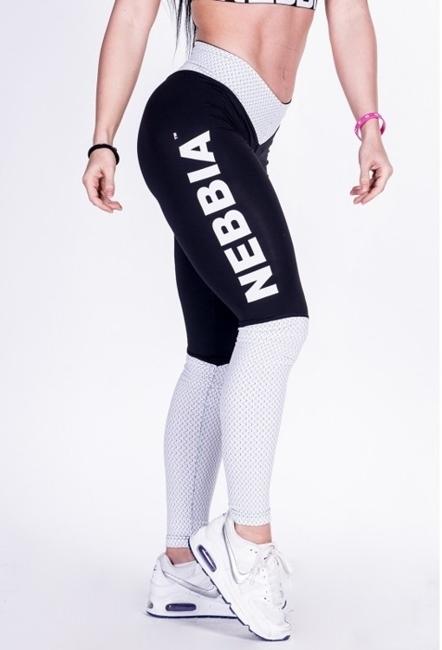 NEBBIA - LEGGINSY  N280 BLACK/WHITE (PUSH UP)