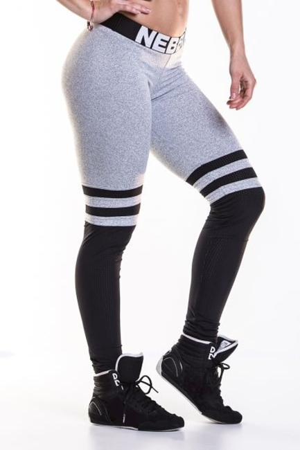 NEBBIA - LEGGINSY SOX N286 GREY (PUSH UP)