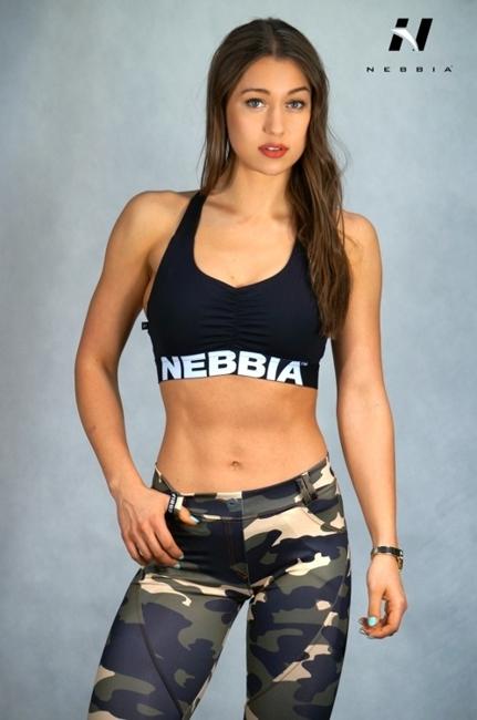 NEBBIA - SPORTOWY MINI TOP SUPPLEX MODEL N207 Black