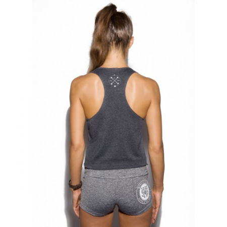 WAKE UP AND SQUAT BEAUTIFUL PAIN TANK - GRAPHITE