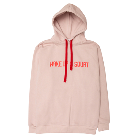 WAKE UP AND SQUAT - GIRLS HOODIE (dusty pink)