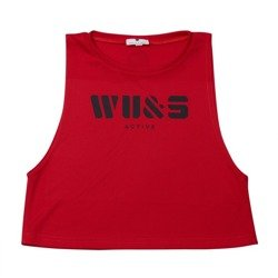 WAKE UP AND SQUAT - ACTIVE TANK TOP SHORT (RED)