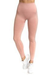 STRONG. - LEGGINSY BEZSZWOWE PINK MELANGE (PUSH UP)