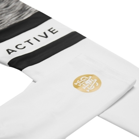WAKE UP AND SQUAT ACTIVE - LEGGINSY GREY/WHITE