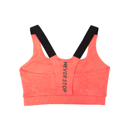 WAKE UP AND SQUAT - Stanik Sportowy NEVER STOP (orange)