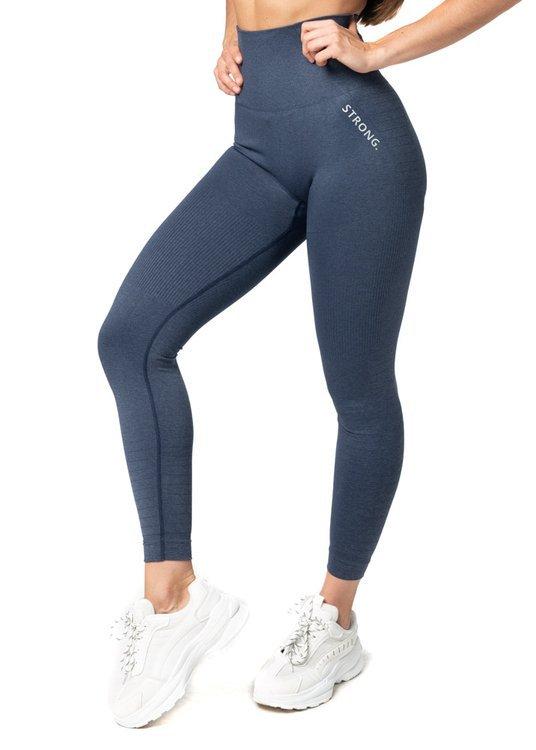 Bezszwowe Legginsy Double Push Up Revolution. Navy Blue Jeans. XXS/XS