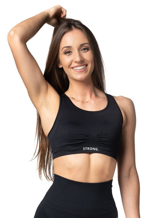 STRONG. - BEZSZWOWY TOP (BLACK)