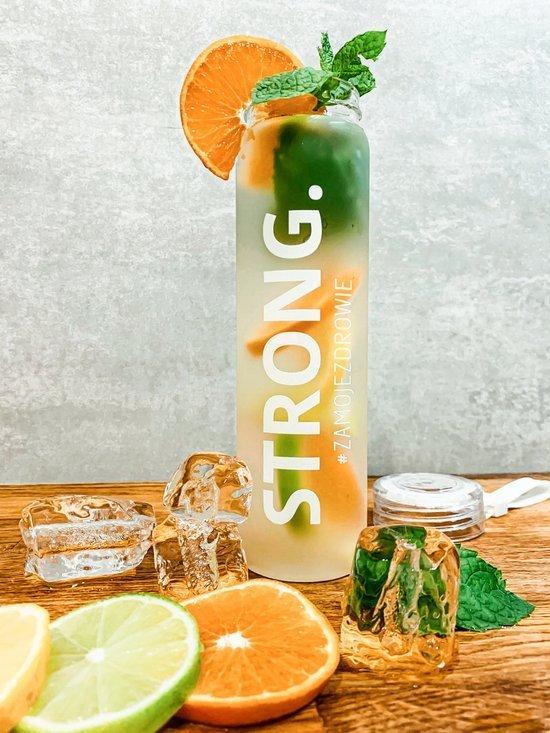 STRONG. - Szklana butelka na wodę