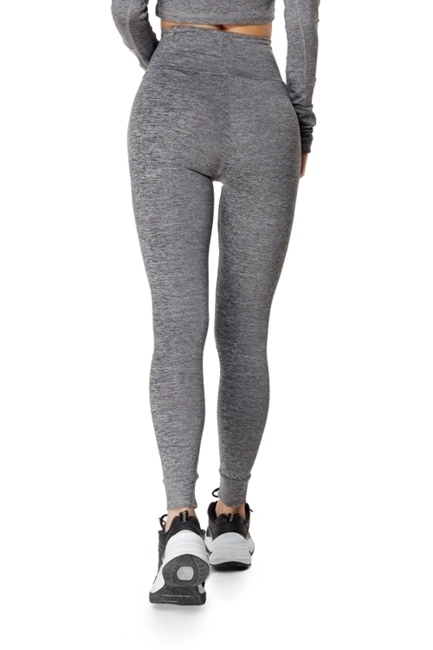 WAKE UP AND SQUAT - LEGGINSY GREY BASIC (bez nadruków)