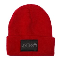 WAKE UP AND SQUAT - BEANIE (red)